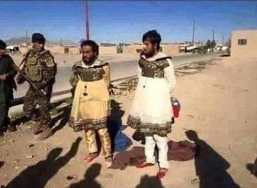 没骨气 ISIS恐怖分子穿女人衣服逃跑(图)