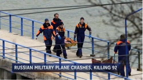 俄飞机坠毁可能因操作失误或技术故障(组图)