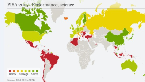 PISA测试:新加坡夺第1 中国大退步(图)
