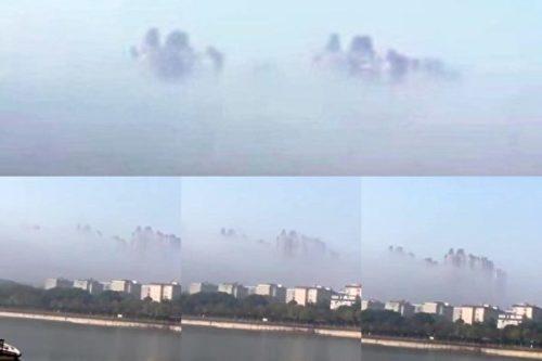 湖南岳阳现海市蜃楼 景象令人惊叹(视频)