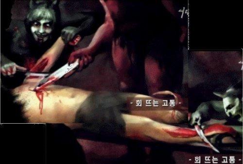 女画家经历地狱画出恐怖景象(组图)地狱画家韩国
