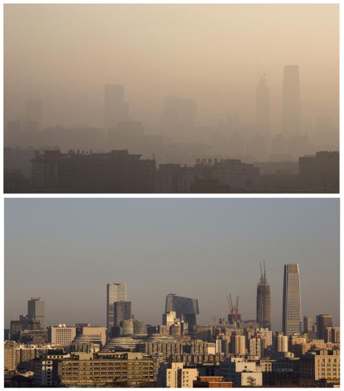 鞭炮所致?中國183城市嚴重空污
