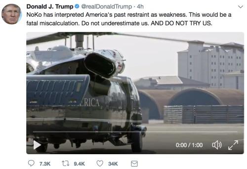川普在中国发的第二条推文