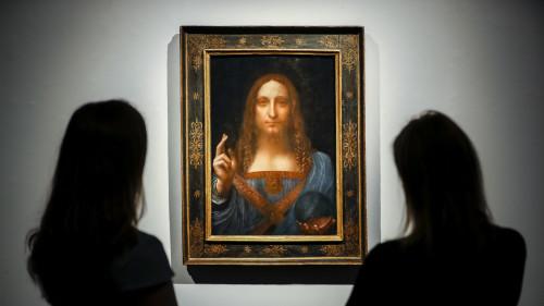文艺复兴时代艺术家达文西的名画《救世主》(Salvator Mundi)