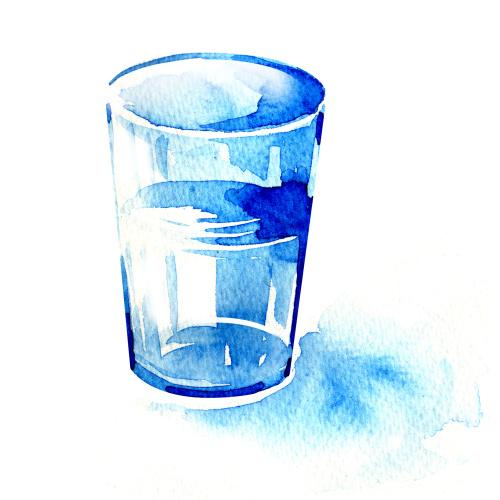 如果让一个人画一个玻璃杯,他大有可能从左方位取角。