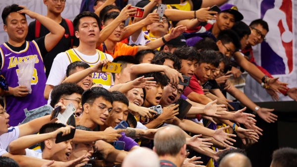 NBA 深圳 (图片来源: Getty Images图STR/AFP via Getty Images)