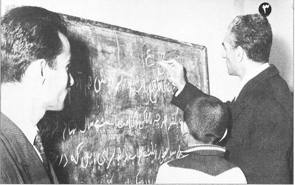 1963年国王参观一所新建的学校