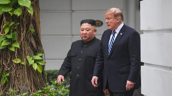 2019年2月28日,美国总统川普与朝鲜领导人金正恩在河内索菲特传奇大都会酒店举行的第二次美朝首脑会谈。