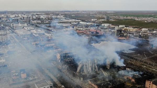 3月21日14时48分许,响水县陈家港镇工业园化工厂发生大爆炸。