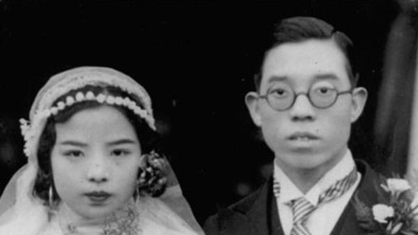 千家驹(右)曾任中共中央工商行政管理局副局长。图为1936年,广西大学教授千家驹和杨梨音结婚照。