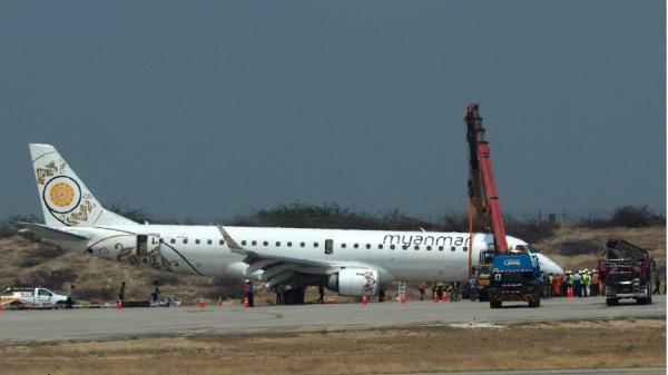 缅甸英雄机长救89人客机用后轮安全降落(图)