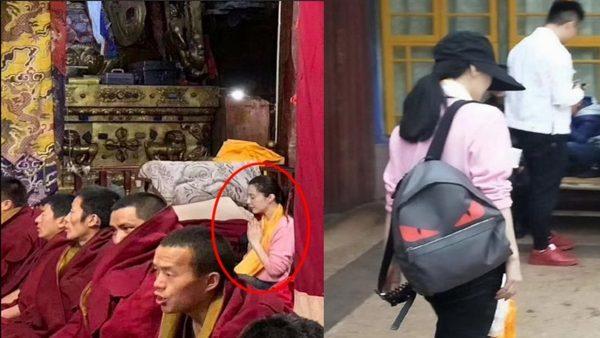 范冰冰素颜出现在西藏大昭寺,略显消瘦憔悴