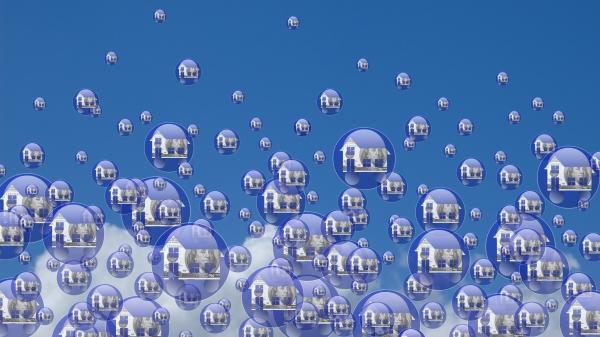 房地产泡沫示意图。