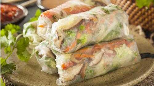 越南春卷有越南菜清淡自然的口味。
