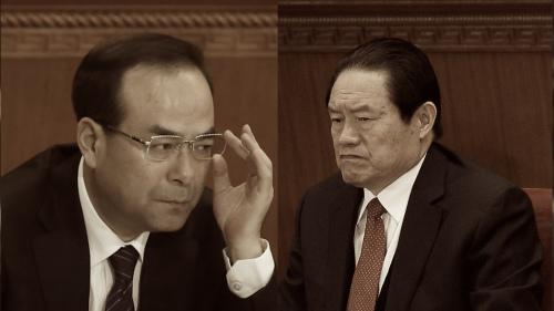 孙政才(左)周永康(右)