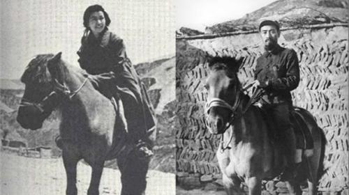 江青策馬在前飛奔,周恩來緊緊跟上,不料江青忽然勒馬一個亮相,周的馬驟然受驚,後腿直立,將周摔下馬背。