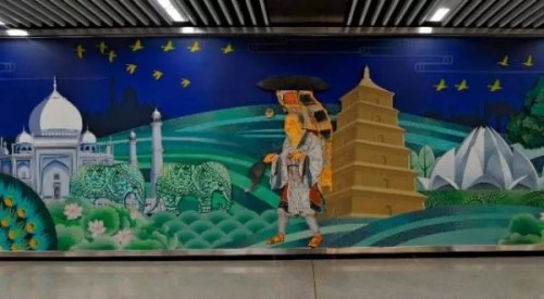 唐玄奘取經跑到泰姬瑪哈陵?西安壁畫爆烏龍