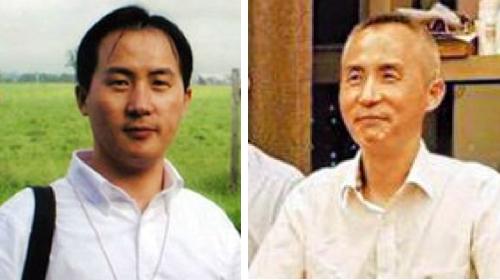 李和平被抓前(左)和获释后(右)