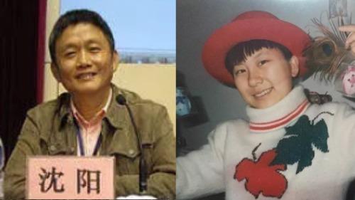 教育部长江学者特聘教授沈阳(左)被举报22年前性侵北京大学中文系女学生高岩(右)