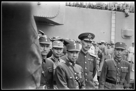 在密蘇里號接受日本投降的國軍代表徐永昌、楊宣誠等。