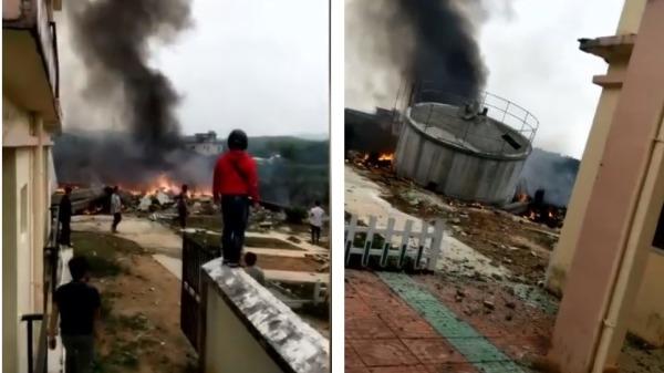 中國海軍空兵一架戰機在海南省樂東縣墜毀