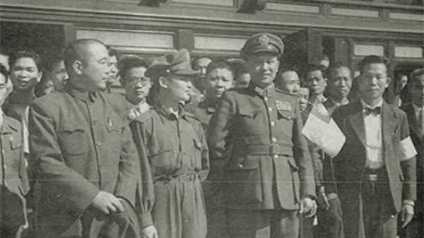 國防部長白崇禧,代表中央政府到臺宣慰。