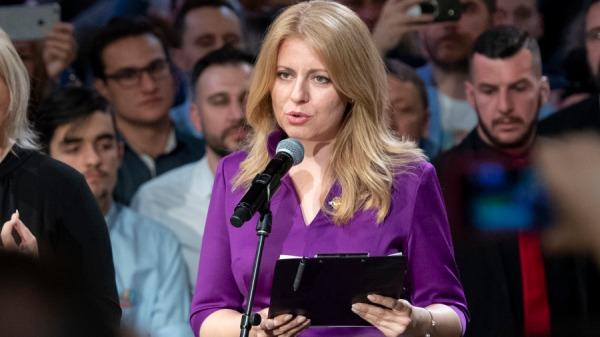 2019年3月30日,斯洛伐克總統候選人卡布托娃Zuzana Caputova在布拉迪斯拉發選舉總部贏得選舉後發表演講