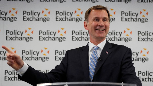 英国外相亨特(Jeremy Hunt)(图片来源:Frank Augstein- WPA Pool/Getty Images)