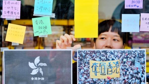 817全球抗争连线 台湾民众行动撑香港(组图)
