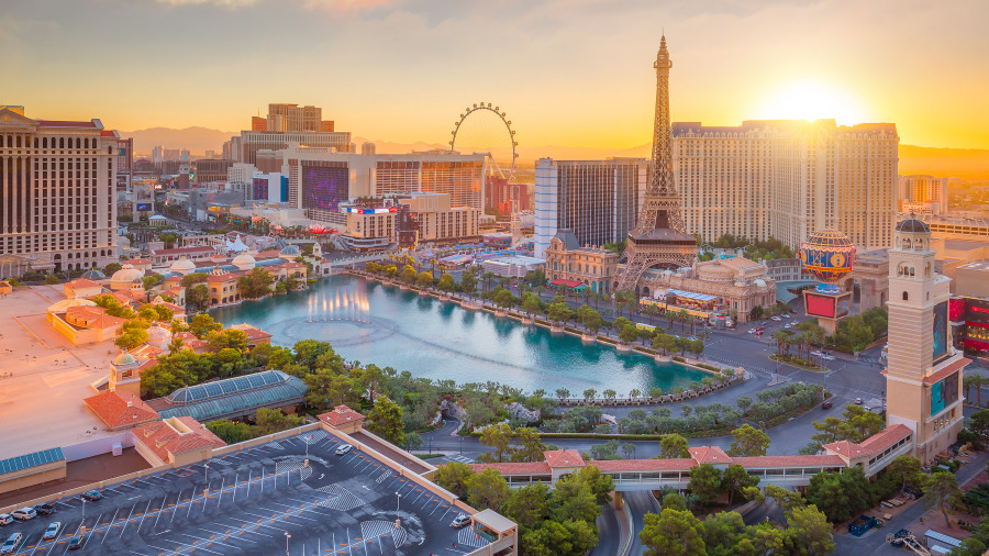 世界知名赌城拉斯维加斯。