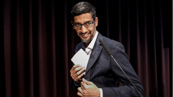 谷歌CEO 皮查伊(Sundar Pichai)(图片来源:Carsten Koall / Getty Images)