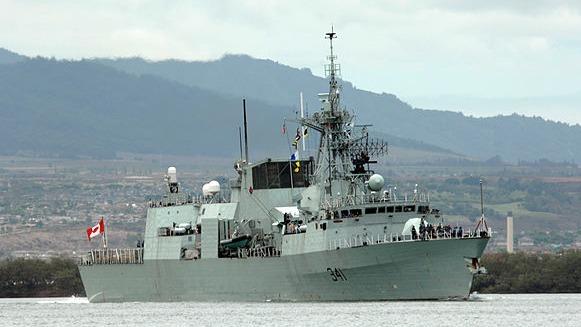 加拿大军舰航经台湾海峡 国防部全程掌握(图)
