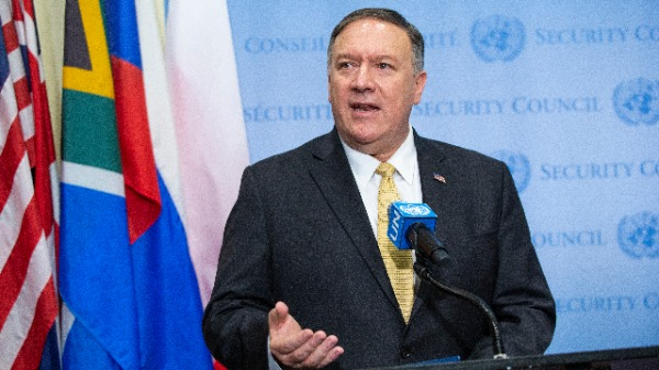 美國國務卿蓬佩奧(Mike Pompeo)(圖片來源:Eduardo Munoz Alvarez/Getty Images)